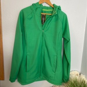 Under Armour  storm green jacket size large